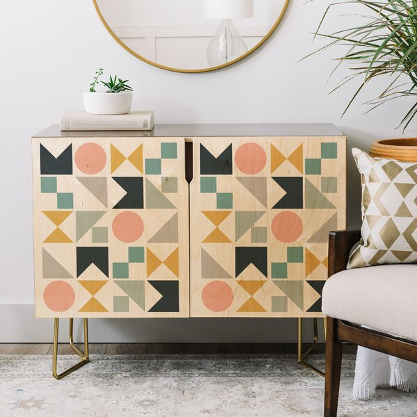 The Old Art Studio Modern Geometric Credenza by East Urban Home