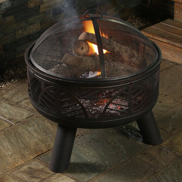 Deep Bowl Steel Wood Burning Fire Pit by Winsome House