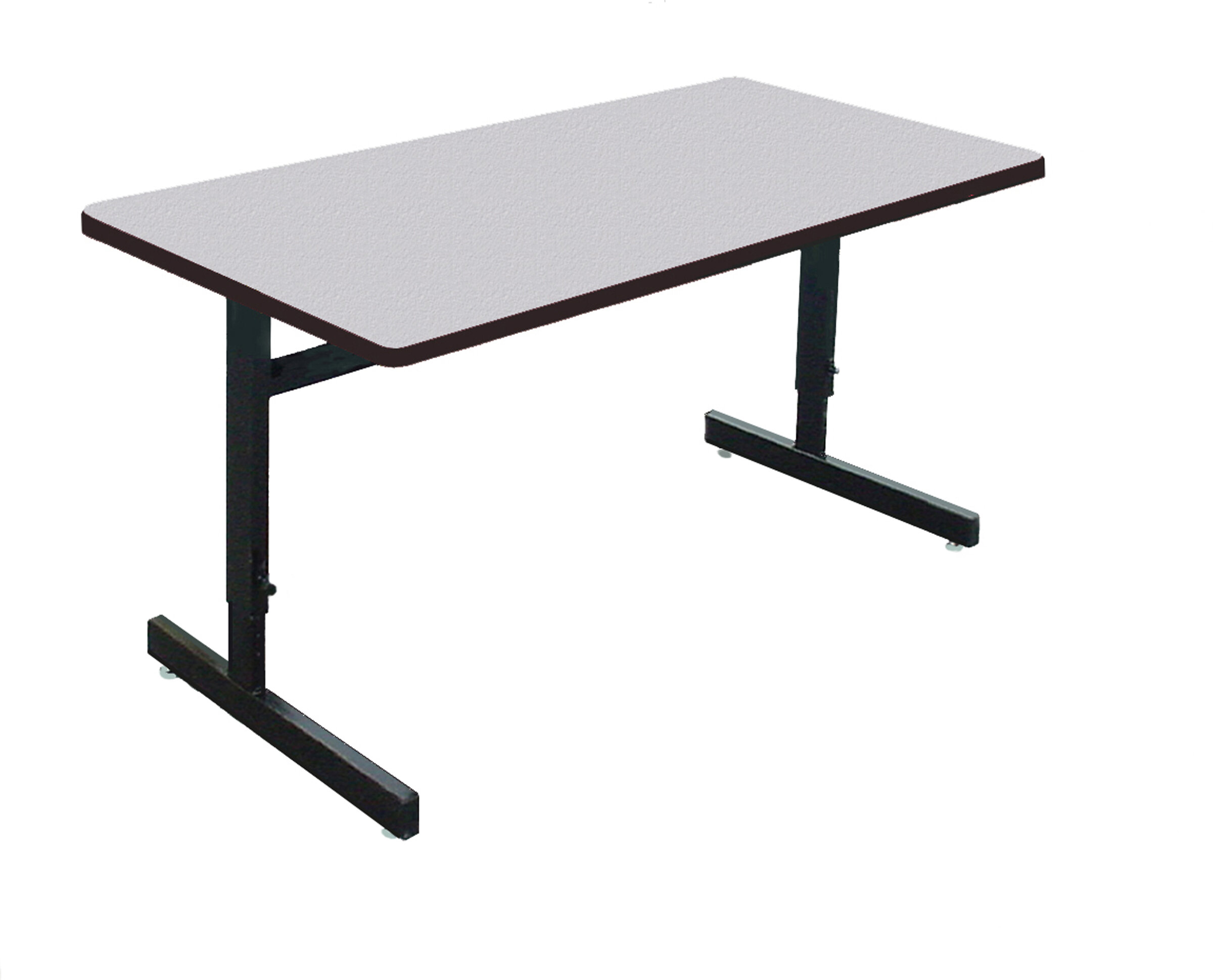 Symple Stuff Height Adjustable Training Table With Modesty Panel - Adjustable training table