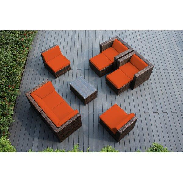 Kiara 9 Piece Rattan Sunbrella Sofa Seating Group with Cushions by Orren Ellis