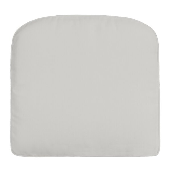 Double-Piped Indoor/Outdoor Contour Dining Chair Cushion by Wayfair Custom Outdoor Cushions