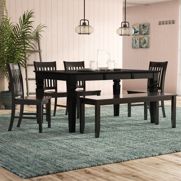 Pennington Traditional 6 Piece Dining Set by Beachcrest Home Beachcrest Home