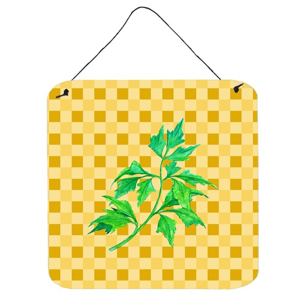 Celery on Basketweave Wall Décor by East Urban Home