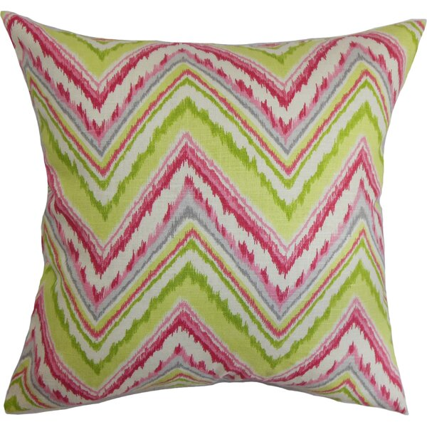 Dayana Zigzag Cotton Throw Pillow by The Pillow Collection