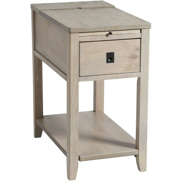 Seville Chairside Table In Driftwood By Rosecliff Heights