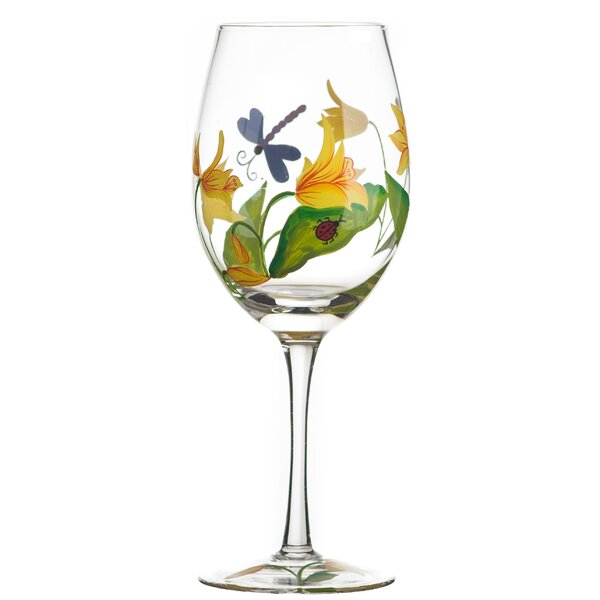 Lillies 18 oz. Wine Glass (Set of 4) by TableArt