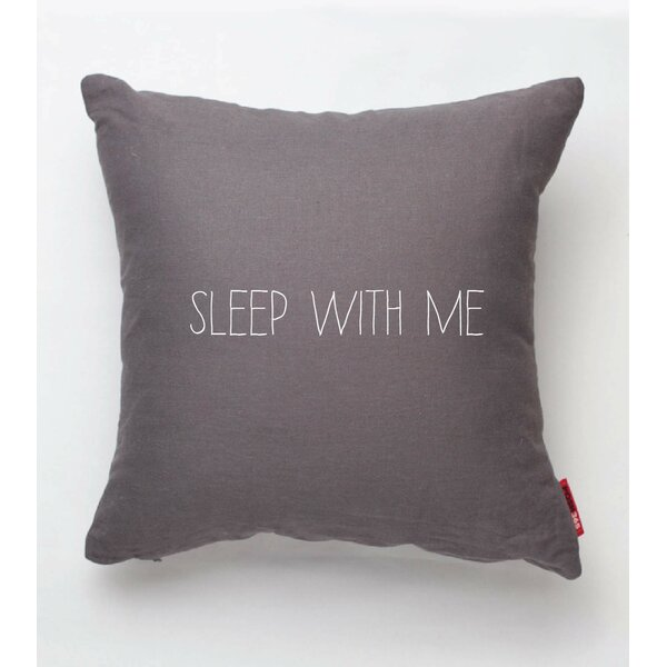 Expressive Sleep with Me Throw Pillow by Posh365