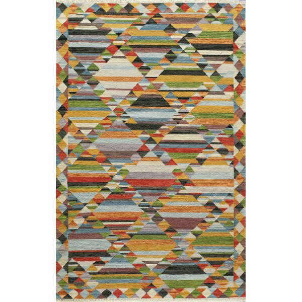 Collman Hand-Woven Yellow Area Rug by Ivy Bronx