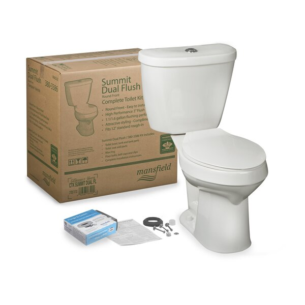 Summit CTK Dual Flush Round Two-Piece Toilet by Mansfield Plumbing Products