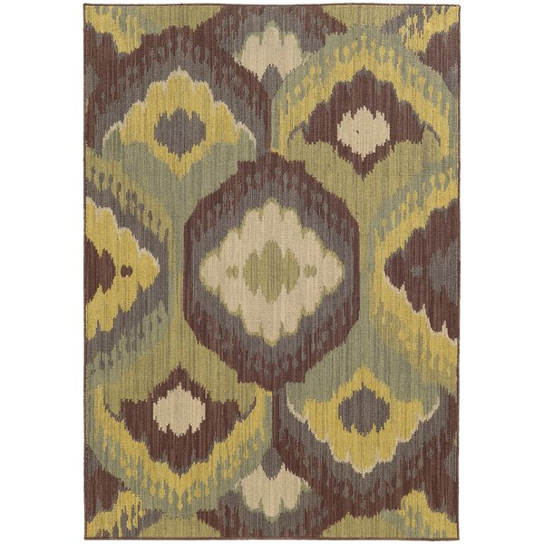 Tommy Bahama Cabana Brown / Blue Abstract Indoor/Outdoor Area Rug by Tommy Bahama Home