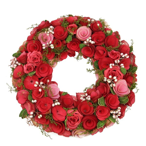 Flowers, Leaves and Berries 12.5 Floral Wreath by Northlight Seasonal
