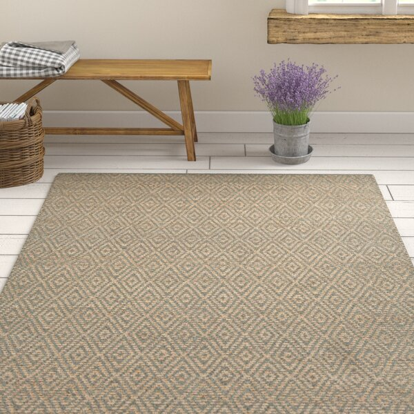 Hammonton Textured Contemporary Gray/Tan Area Rug by Gracie Oaks