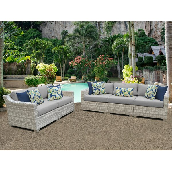 Genevieve 5 Piece Sofa Seating Group with Cushions by Rosecliff Heights