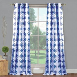 Hildebrandt Geometric Blackout Grommet Curtain Panels (Set of 2)