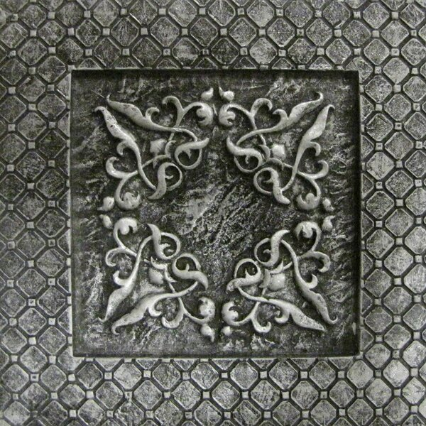 Camelot 4 x 4 Metal Igraine Decorative Accent Tile in Silver by Emser Tile