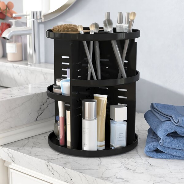 Rotating Storage Cosmetic Organizer by Rebrilliant