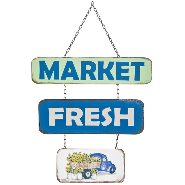Market Fresh Sign Wall Décor by August Grove