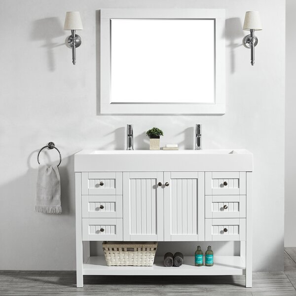 Harward 47 Single Bathroom Vanity Set with Mirror by Highland Dunes