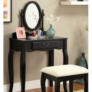 Victoria Vanity Set with Mirror by A&J Homes Studio