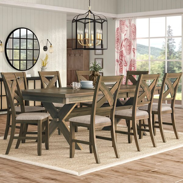 Poe 9 Piece Extendable Dining Set by Gracie Oaks