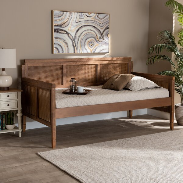Drennen Wood And Synthetic Rattan Twin Daybed By Bay Isle Home