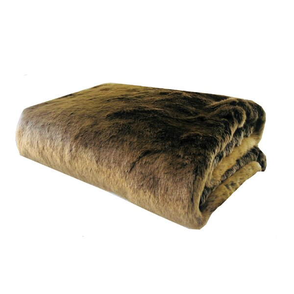 Ramey Tissavel Volga Rabbit Handmade Luxury Faux Fur Throw by Everly Quinn