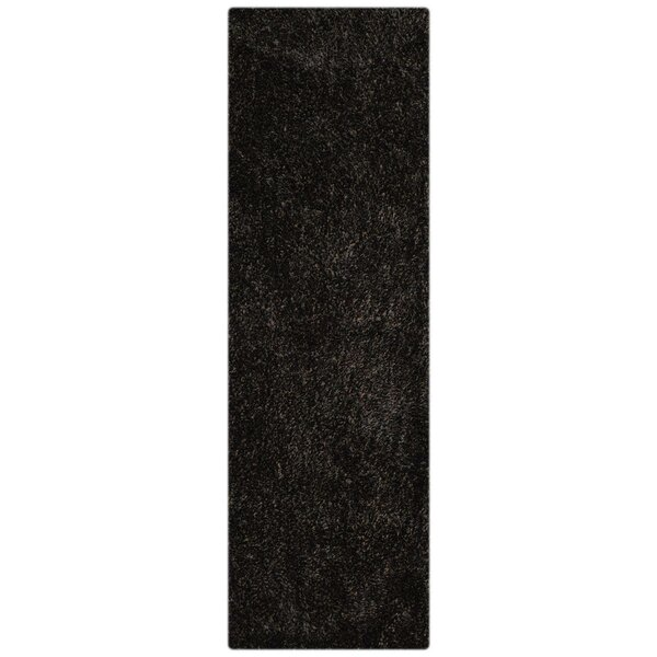 Housel Hand-Tufted Black Area Rug by Ebern Designs