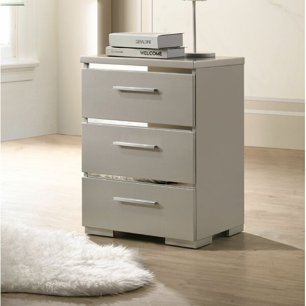 Edmondson 3 Drawer Nightstand by Mercer41