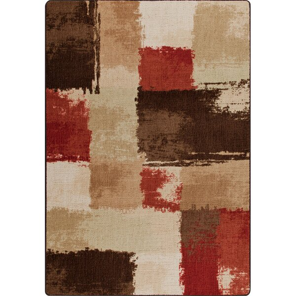 Mix and Mingle Spice Fair And Square Rug by Milliken