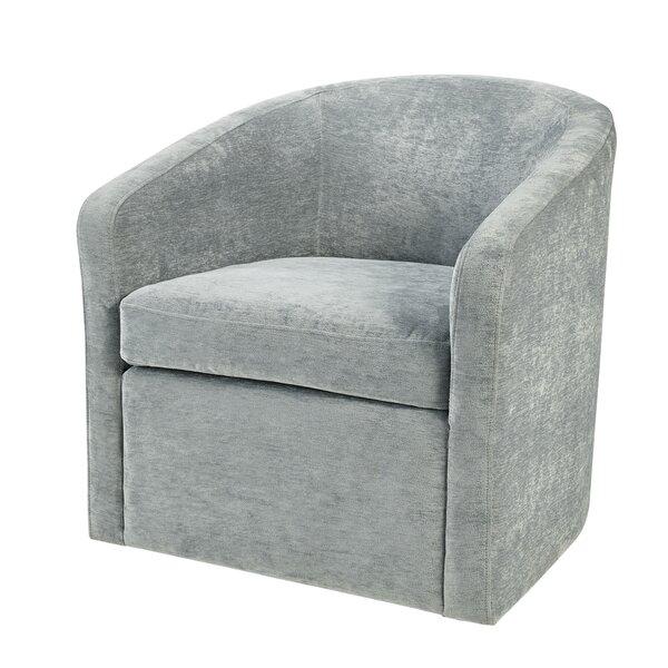Martha Stewart Amber Swivel Barrel Chair by Martha Stewart