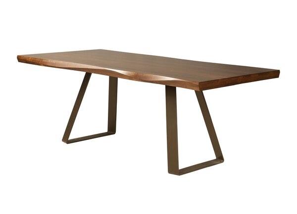 Pressley Maple Sculpted Edge Solid Wood Dining Table by Union Rustic