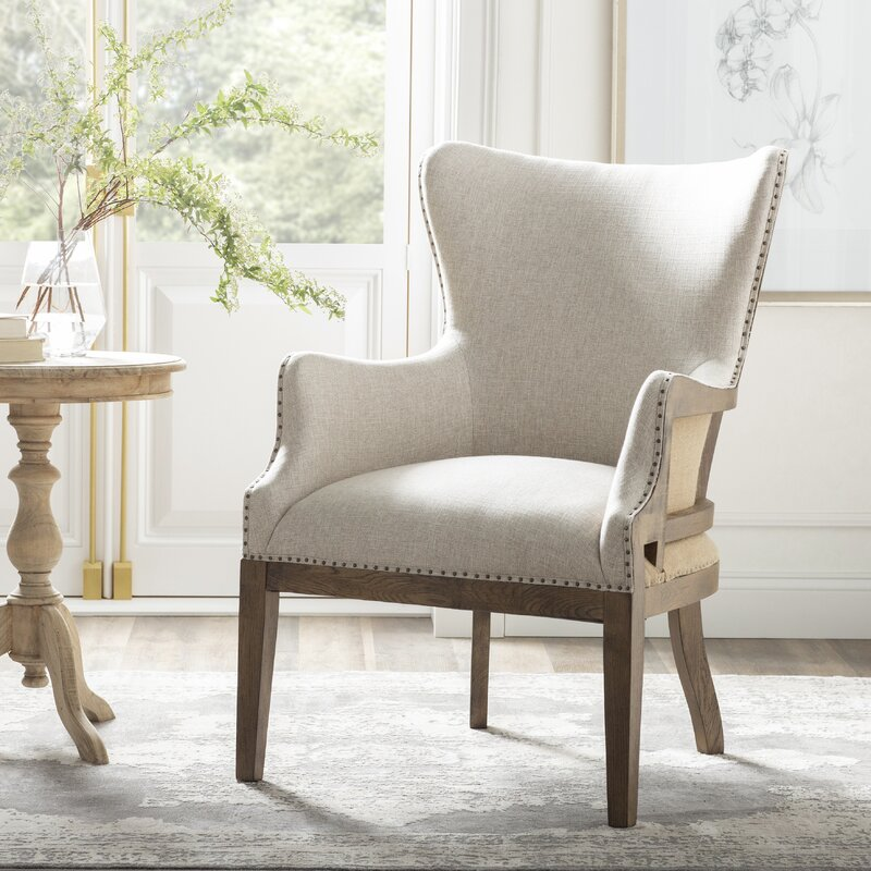 """Jarrell 20.5"""" Armchair - from Kelly Clarkson Home collection - come see more French country decor and furniture goodness on Hello Lovely! #frenchcountry #furniture #linenchair #armchairs #kellyclarksonhome"""