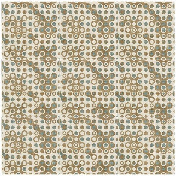 Illica 7.75 x 7.75 Ceramic Field Tile in Blue/Beige by EliteTile