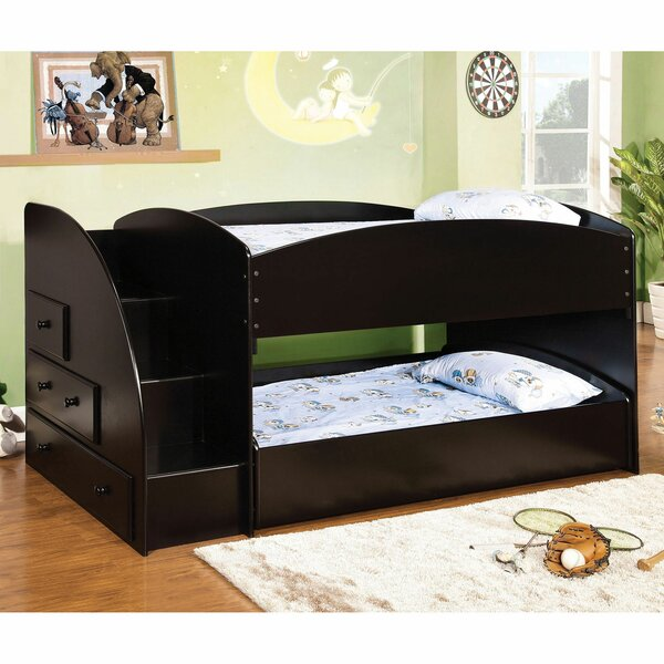 Fargo Twin Over Twin Bunk Bed with Drawers by Harriet Bee