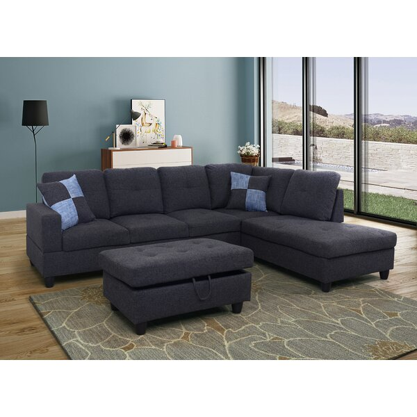 Shamiera Sectional With Ottoman By Winston Porter