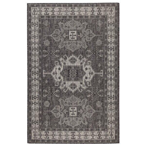 Arverne Gray Indoor/Outdoor Area Rug by Charlton Home