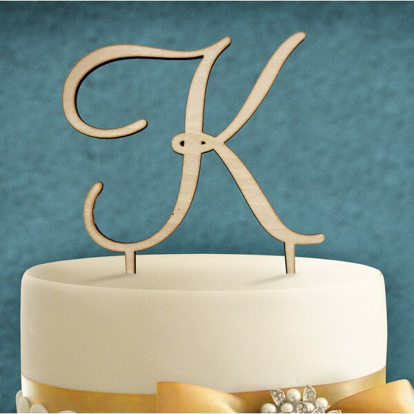 Wooden Cake Topper by aMonogram Art Unlimited