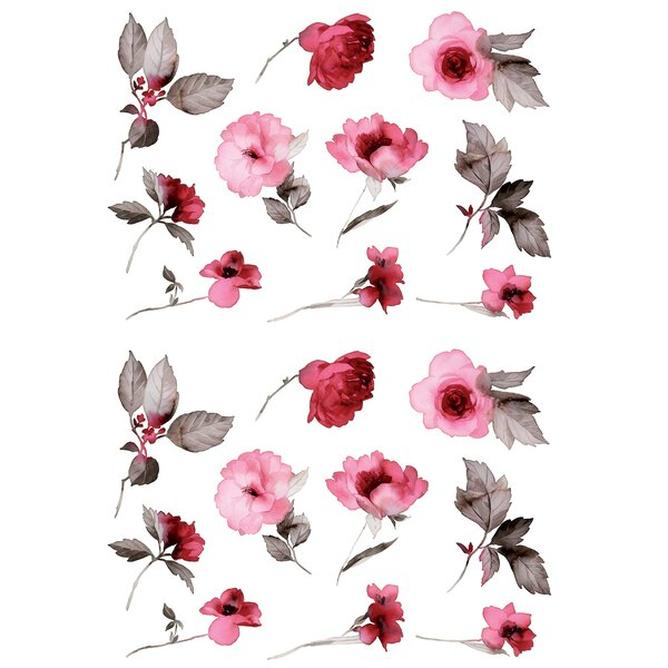 2 Piece Infinity Flower Wall Decal by House of Hampton