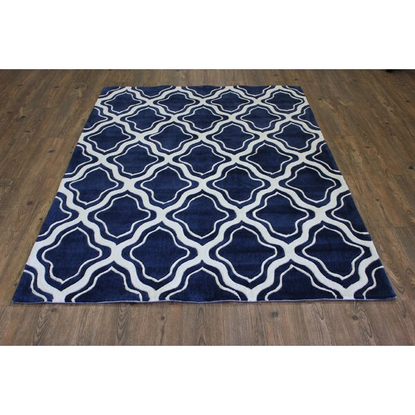 Transition Hand-Tufted Blue Area Rug by Rug Factory Plus