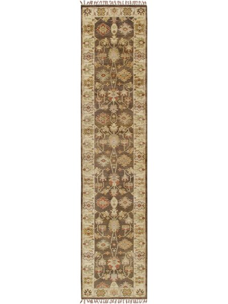 Oushak Hand-Knotted Wool Brown/Beige Area Rug by Pasargad