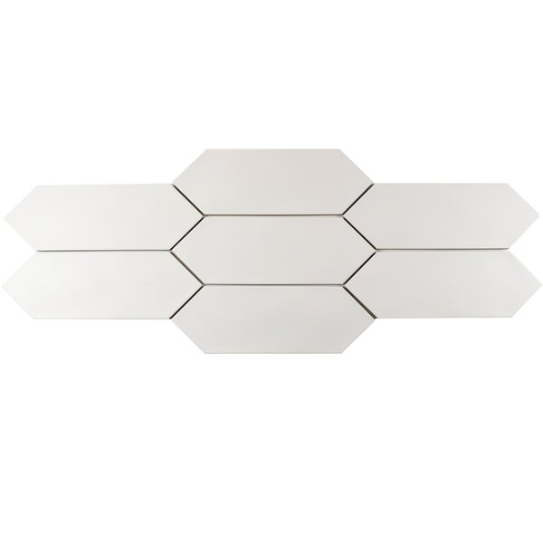 Volant 4 x 11.75 Porcelain Field Tile in Soft White by EliteTile