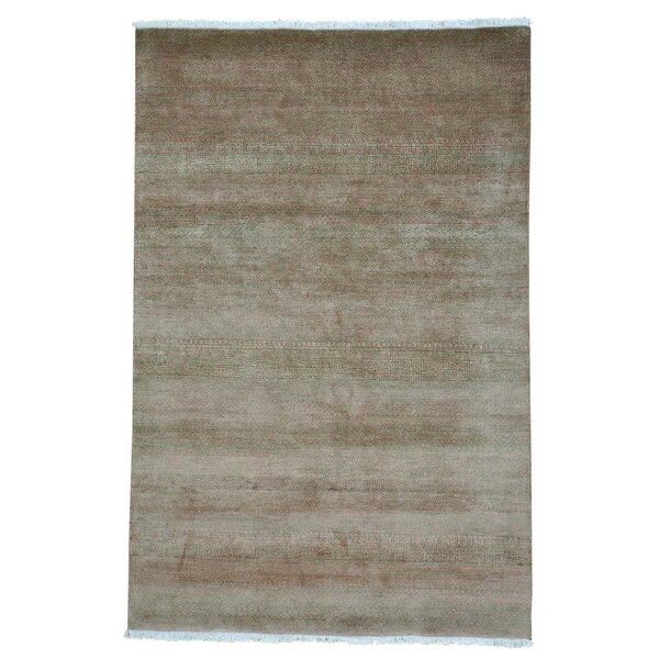 One-of-a-Kind Tasia Overdyed Shea Low Hand-Knotted Forest Green/Brown Area Rug by Brayden Studio