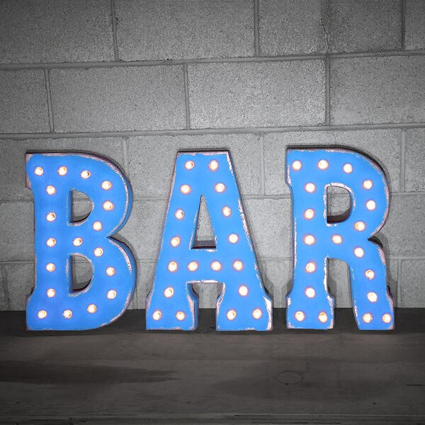 BAR Sign Letter by Brayden Studio