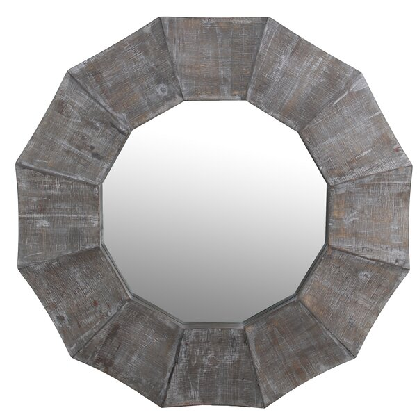 McAllen Scalloped Edge Reclaimed Accent Mirror by Gracie Oaks