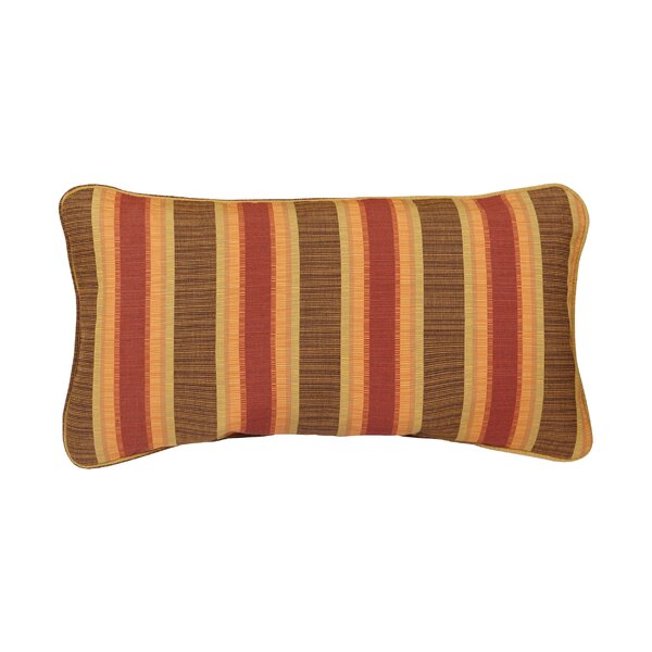 Corded Autumn Stripes Outdoor Sunbrella Lumbar Pillow (Set of 2) by Mozaic Company
