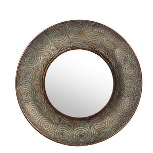 World Menagerie Ginnifer Hammered Metal Round Wall Accent Mirror