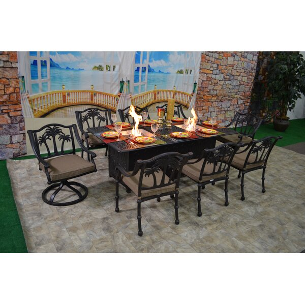 Keefe Tree 9 Piece Dining Set with Cushions by Bayou Breeze