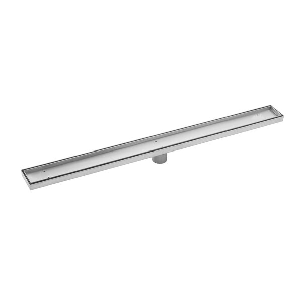Stainless Steel Tile Insert Linear 2 Tile In Shower Drain by Soleil