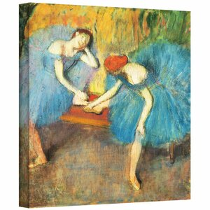'Two Dancers at Rest or Dancers' by Edgar Degas  Painting Print on Wrapped Canvas by ArtWall