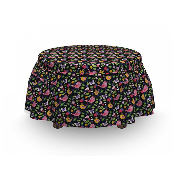 Spring Season Animals Ottoman Slipcover (Set Of 2) By East Urban Home